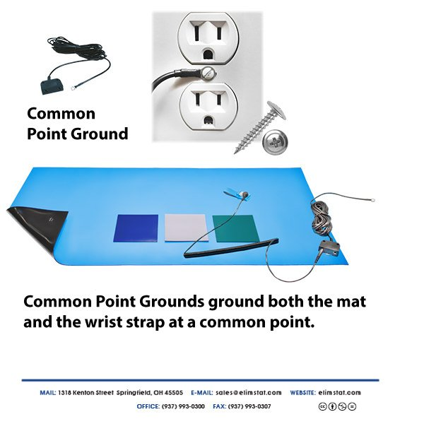 ESD Grounding Method for a Common Point Ground