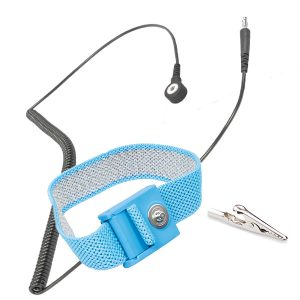 The Coil Cord used to ground Wrist Strap is Static Dissipative