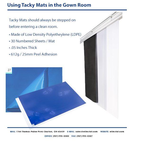 Elimstat.com Cleanroom Sticky Mat Specs