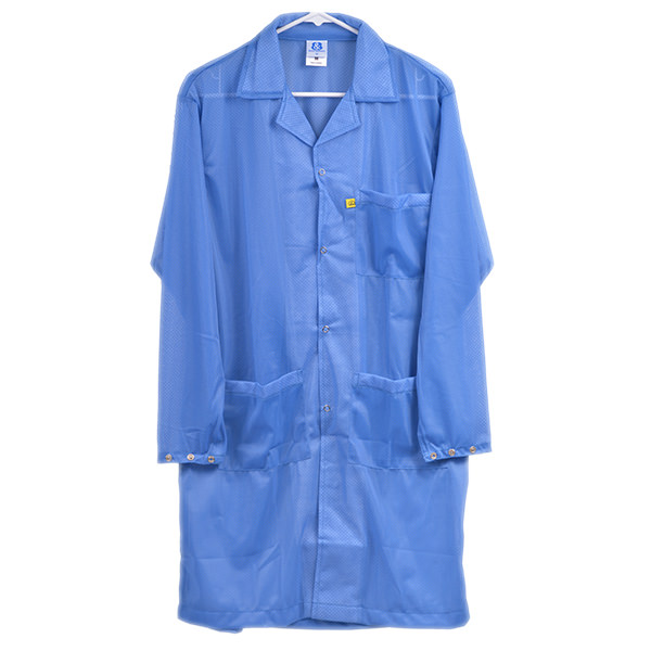 8812 Series Blue Snap Cuff ESD Lab Coat