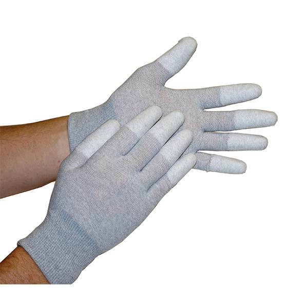 Static Dissipative ESD Gloves with Coated Finger Tips