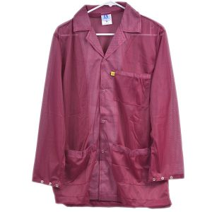 8812 Series Burgundy Snap Cuff ESD Jacket