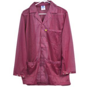 9010 Series Burgundy Snap Cuff ESD Jacket