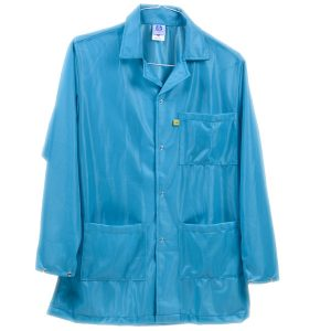 9010 Series Teal Snap Cuff ESD Jacket