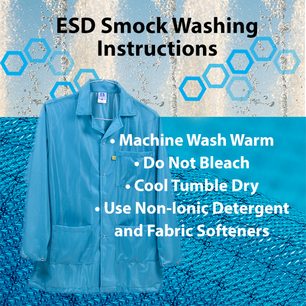 How Do I Clean ESD Smock?