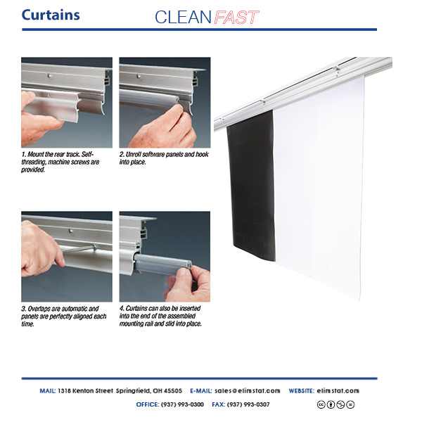 CleanFast Cleanroom Curtains