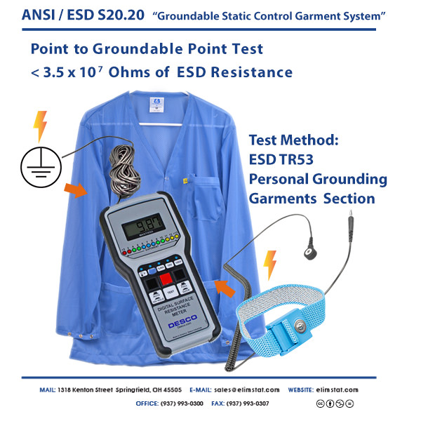 S20.20 Groundable Static Control Garment System