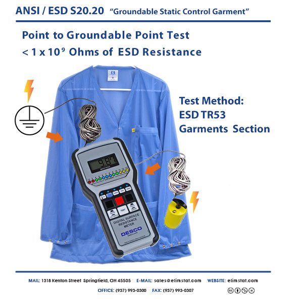S20.20 Groundable Static Control Garment