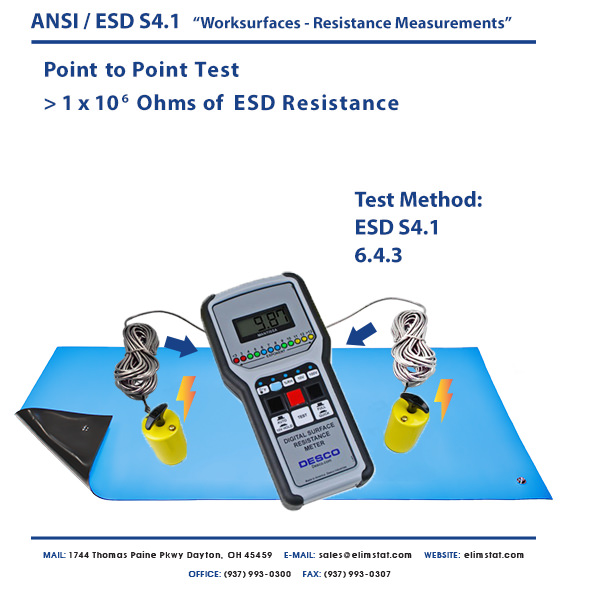 Point to Point (RTT) ESD Resistance Test.