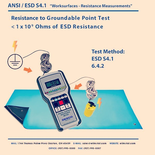 ANSI / ESD S4.1 Test for Anti Static Mat for PC Building