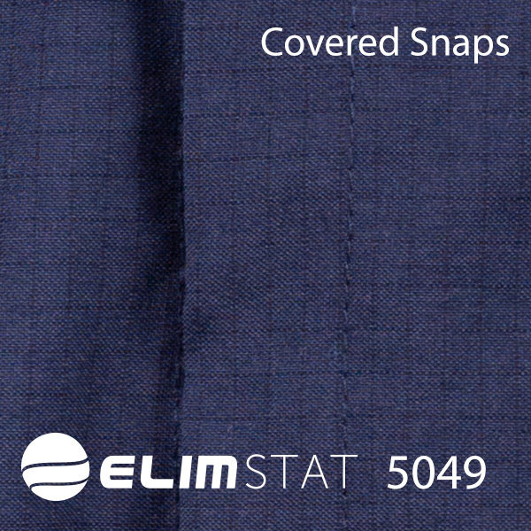Covered Snaps prevent unintended scratching and ESD via induction.
