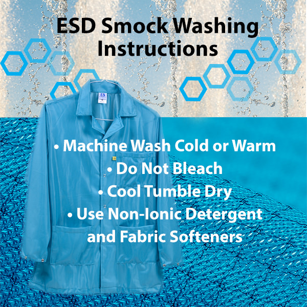 How to wash ESD Smocks